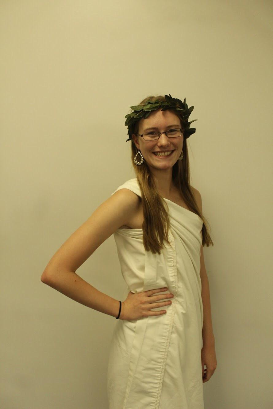 Kendra Held as a Greek Goddess