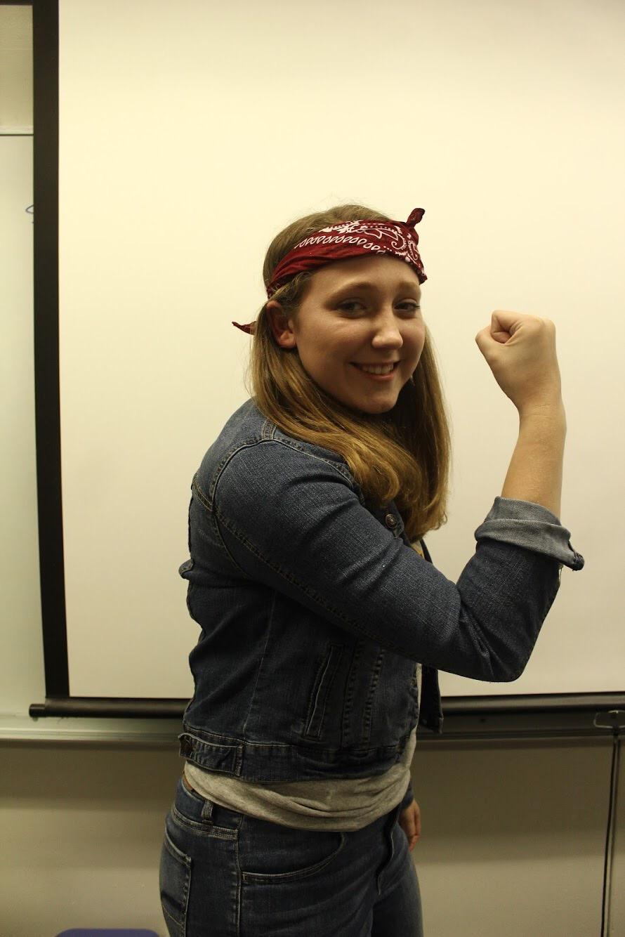 Olivia Keller as Rosie the Riveter