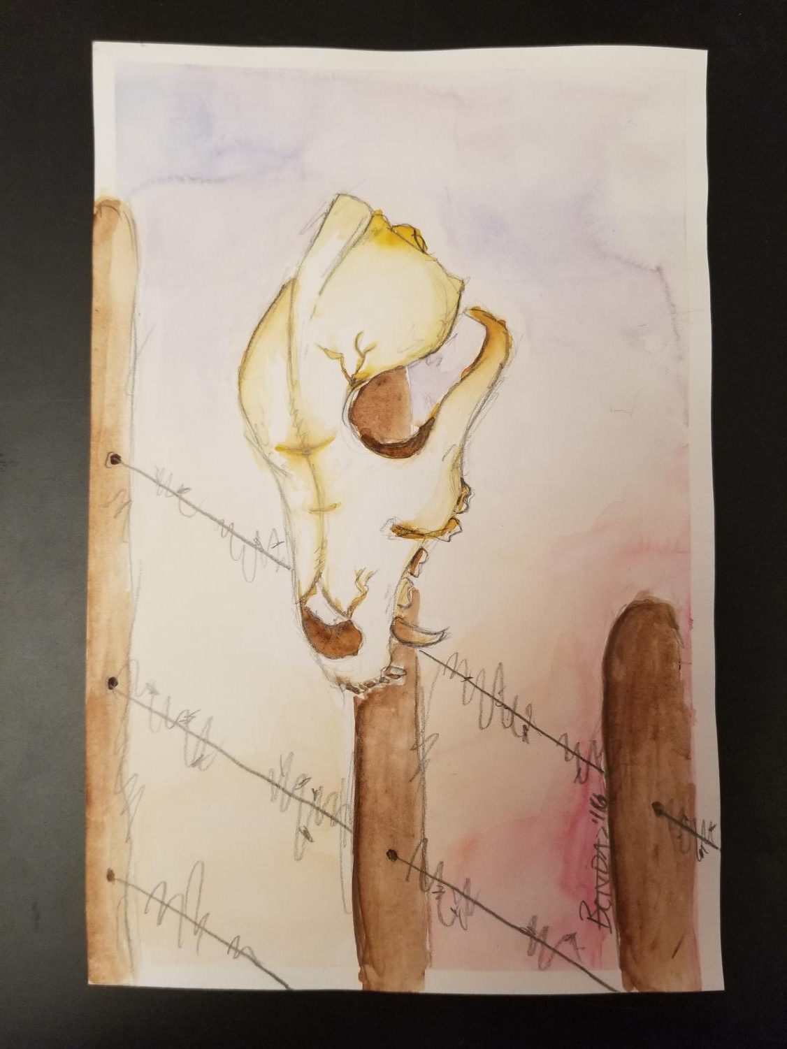 """""""Peace Upon the Other Side"""" - Watercolor"""